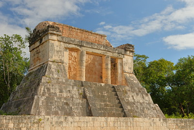 North Temple at end of ball court. Chichen Itza, Yucatan, Mexico. © 2018 Kenneth R. Sheide
