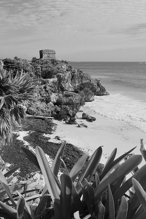 Beach with Structure 45 in distance. Tulum, Quintana Roo, Mexico. © 2018 Kenneth R. Sheide