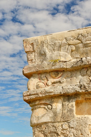 Face on Temple of Frescoes. Tulum, Quintana Roo, Mexico. © 2018 Kenneth R. Sheide