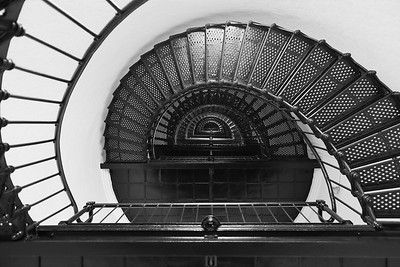 Bodie Island Lighthouse stairs, Outer Banks, NC. © 2013 Kenneth R. Sheide