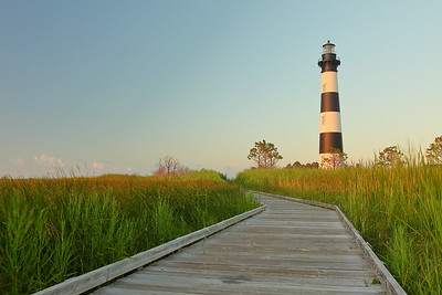 Bodie Island Lighthouse at sunrise, Outer Banks, NC. © 2013 Kenneth R. Sheide