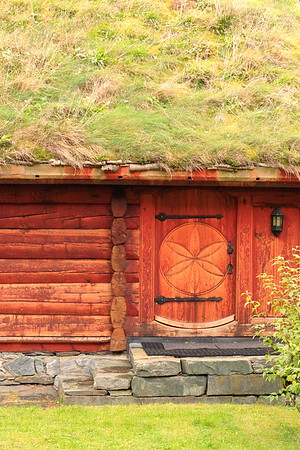 Grass-roofed building in Flam, Norway. © 2004 Kenneth R. Sheide
