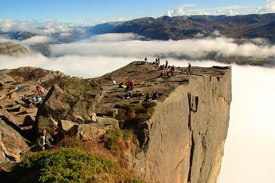 Preikestolen over the Lysefjord in Norway. © 2004 Kenneth R. Sheide