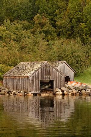Boathouses in Nesvik, Norway. © 2004 Kenneth R. Sheide