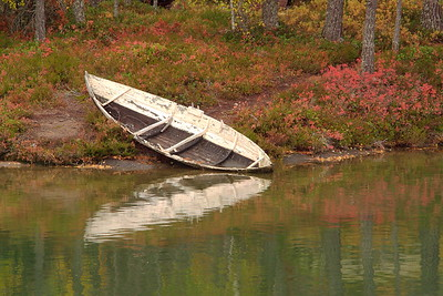 Old boat on lake near Sogndal, Norway. © 2004 Kenneth R. Sheide
