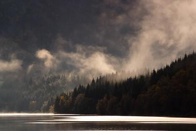 Misty lake near Sandeid, Norway. © 2004 Kenneth R. Sheide