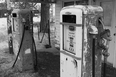 Old gas pumps somewhere in North Central Oregon. © 2017 Kenneth R. Sheide