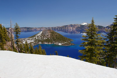 View of Wizard Island in Crater Lake, OR. © 2014 Kenneth R. Sheide
