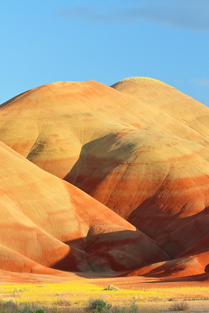 Scenery in Painted Hills of John Day Fossil Beds, OR. © 2014 Kenneth R. Sheide