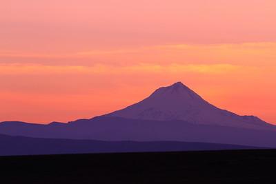 Mount Hood at dusk, OR. © 2014 Kenneth R. Sheide