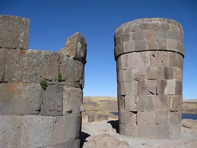 Chullpa tombs at Sillustani, Peru. © 2012 Kenneth R. Sheide