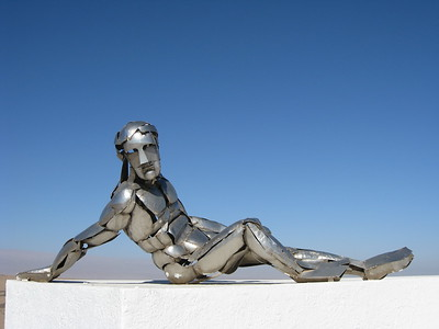 Stainless steel man at Alto de la Alianza near Tacna, Peru. © 2011 Kenneth R. Sheide