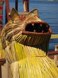 Decorative feature of boat. Lake Titicaca, Peru. © 2012 Kenneth R. Sheide