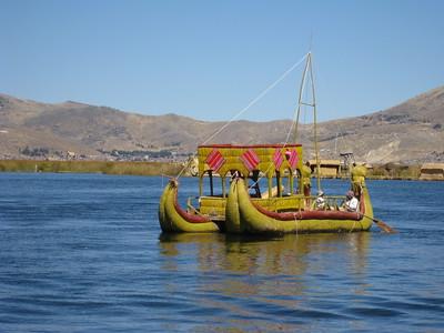 Boat sailing on Lake Titicaca, Peru. © 2012 Kenneth R. Sheide