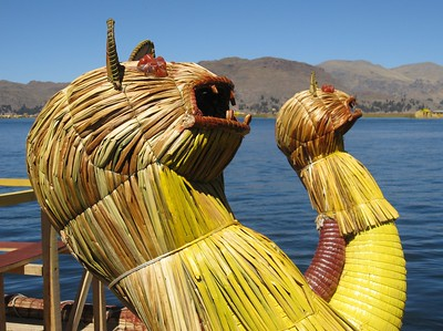 Front of boat on Lake Titicaca, Peru. © 2012 Kenneth R. Sheide