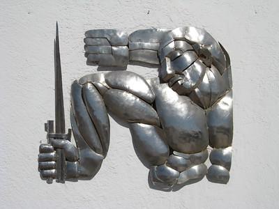 Stainless steel art on  Alto de la Alianza near Tacna, Peru. © 2011 Kenneth R. Sheide