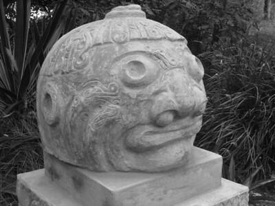 Big head at Parque de las Leyendas in Lima, Peru. © 2013 Kenneth R. Sheide