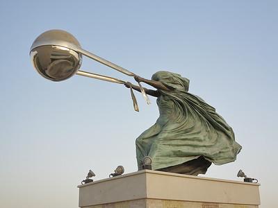 Force of Nature statue, Katara, Doha, Qatar. © 2014 Kenneth R. Sheide
