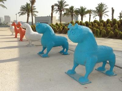 Colorful wicker animals at Doha, Qatar. © 2014 Kenneth R. Sheide