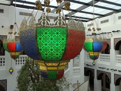Lamps in Gold Souq, Doha, Qatar. © 2014 Kenneth R. Sheide