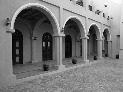 Building walkway at Katara, Doha, Qatar. © 2014 Kenneth R. Sheide