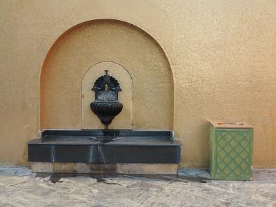 Fountain in side of Golden Masjid, Katara, Doha, Qatar. © 2014 Kenneth R. Sheide