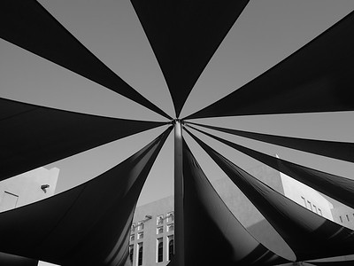 Shade over a courtyard at Katara, Doha, Qatar. © 2014 Kenneth R. Sheide