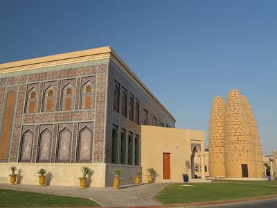 Katara Mosque and pigeon towers, Doha, Qatar. © 2014 Kenneth R. Sheide