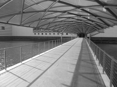 Walkway to Museum of Islamic Art, Doha, Qatar. © 2014 Kenneth R. Sheide