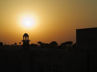Sunset over Katara Mosque minaret, Doha,Qatar. © 2014 Kenneth R. Sheide