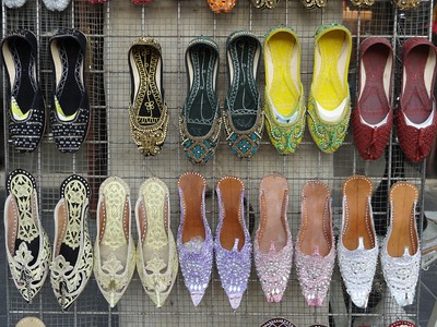 Shoes for sale in Souq Waqif, Doha, Qatar. © 2014 Kenneth R. Sheide