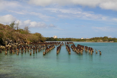 Pier remnant on Saipan. © 2010 Kenneth R. Sheide