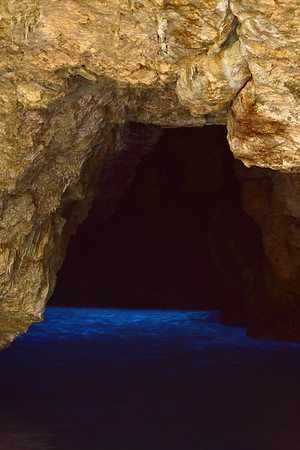 Light coming through ocean at The Grotto on Saipan. © 2010 Kenneth R. Sheide