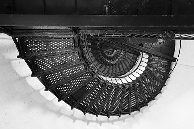 Stairwell and landings of Hunting Island Lighthouse, Hunting Island, SC. © 2021 Kenneth R. Sheide