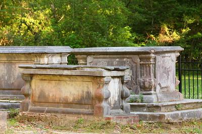 Sarcophagi at Old Sheldon Church, Yemassee, SC. © 2021 Kenneth R. Sheide