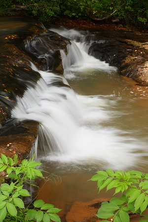 Waterfall in Hagood Branch near Pickens, SC. © 2021 Kenneth R. Sheide