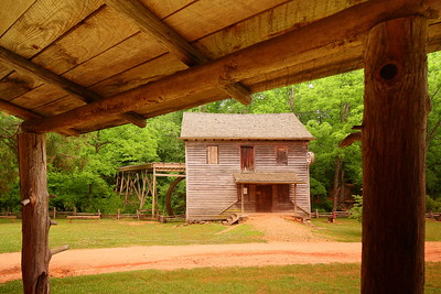 View of Hagood Mill from cabin porch, Pickens, SC. © 2021 Kenneth R. Sheide