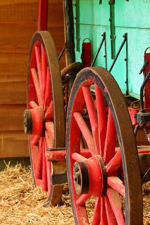 Colorful old wagon at Hagood Mill, Pickens, SC. © 2021 Kenneth R. Sheide