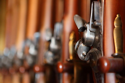Rifles in Governor's Palace, Colonial Williamsburg, VA. © 2013 Kenneth R. Sheide