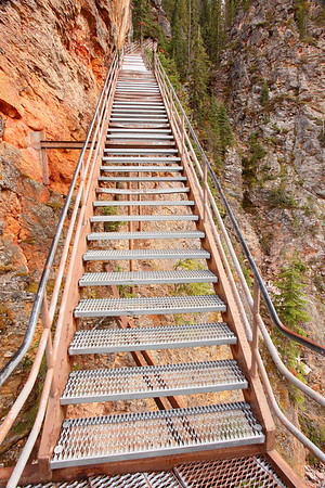 Stairs on Uncle Tom's Trail, Yellowstone, WY. © 2013 Kenneth R. Sheide