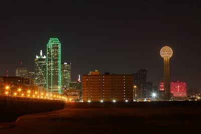 Downtown Dallas, TX at night. © 2014 Kenneth R. Sheide