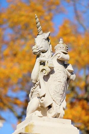 Unicorn at Governor's Palace, Colonial Williamsburg, VA. © 2013 Kenneth R. Sheide