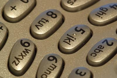 Cell phone keypad. © 2004 Kenneth R. Sheide