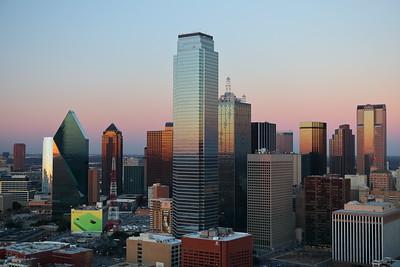 Dallas, TX skyline at sunset. © 2014 Kenneth R. Sheide