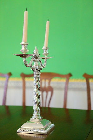 Candlestick in Governor's Palace, Colonial Williamsburg, VA. © 2013 Kenneth R. Sheide