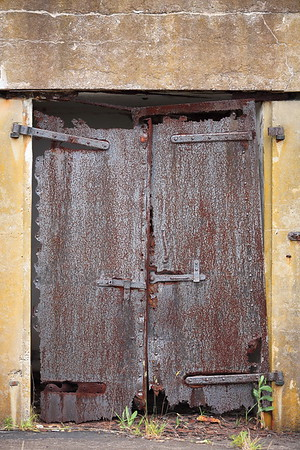 Old iron door in battery at Fort Monroe, Hampton, VA. © 2013 Kenneth R. Sheide