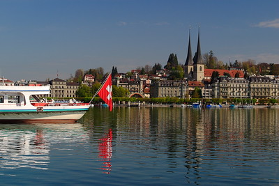 View across water in Lucerne, Switzerland. © 2005 Kenneth R. Sheide