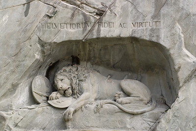 Lion Monument of Lucerne, Switzerland. © 2005 Kenneth R. Sheide