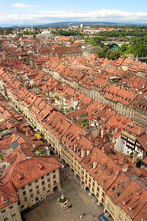 View from above of Berne, Switzerland. © 2004 Kenneth R. Sheide