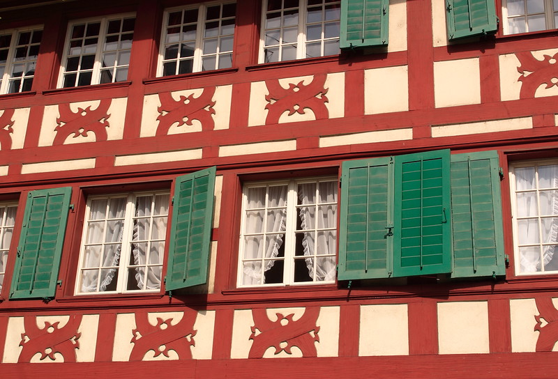 A half-timbered building near the Hof Church in Lucerne, Switzerland. © 2005 Kenneth R. Sheide